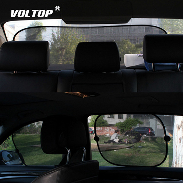 5 Sets Car Window Net Side Rear Sunshades Auto Glass Yarn Shade Block Super Insulation Hot Anti Sun Shield Visor Film Cover