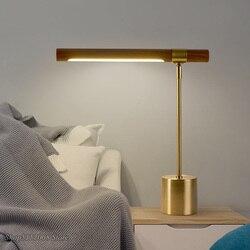 Nowoczesna prosta metalowa lampa stołowa Led Nordic projektant drewna tkaniny sypialnia Led lampy stołowe Luminaria dekoracje lampy biurko w Lampy stołowe LED od Lampy i oświetlenie na