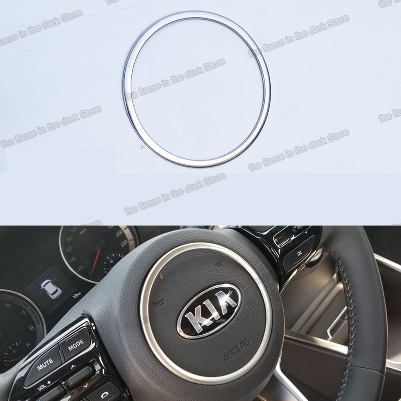 Lsrtw2017 Авто Рулевое колесо логотип планки кольцо для kia stonic 2018 2019 2020 2021 kx1 Аксессуары Украшение для интерьера