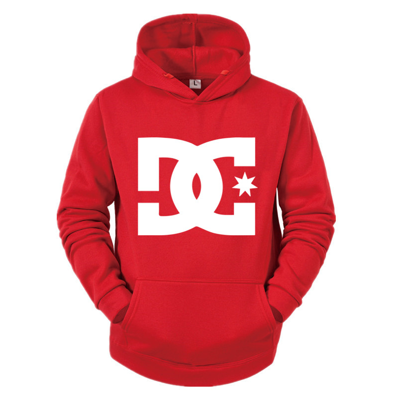 Толстовка для скейтборда Мужская/Женская, уличная одежда, свитшот с надписью DC, повседневный пуловер с длинным рукавом, худи для экстремаль...