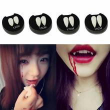 2 шт Косплей Хэллоуин протезы зомби зубы вампира Призрак Дьявол