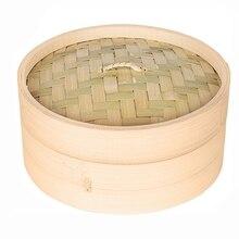 Одна клетка и одна крышка приготовления бамбуковый пароход рыба рис овощная Корзиночка для закусок набор кухонных инструментов, S