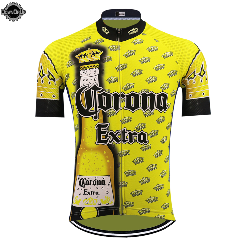 Cycling-Jersey Triathlon-Top Short-Sleeve Beer Ciclismo Maillot Yellow Summer Men