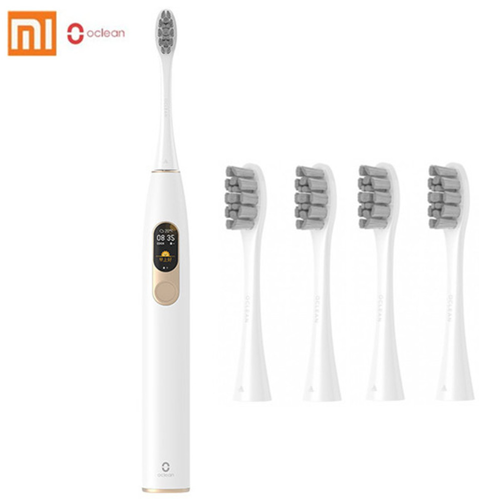 Global Version Oclean X Sonic Electric Toothbrush With 8Pc Brush Heads Waterproof Ultrasonic Toothbrush USB Rechargeable Brush