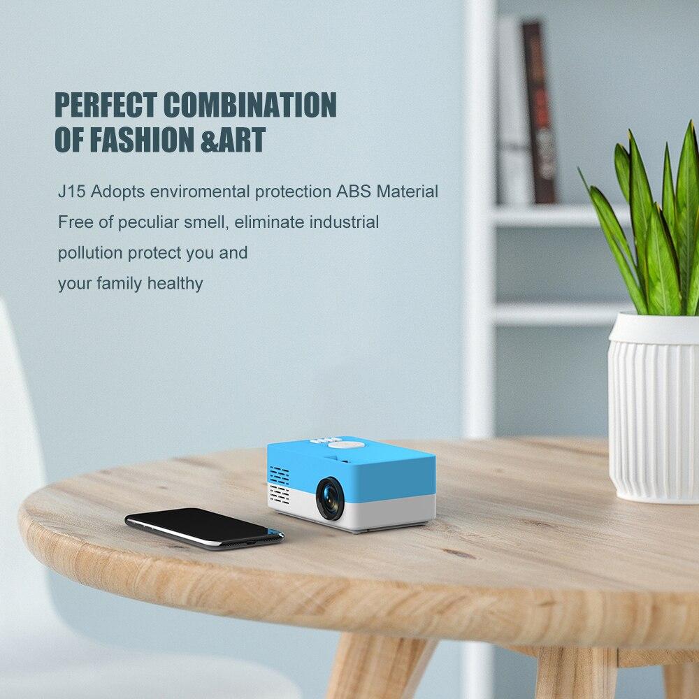 Salange mini projetor j15, 320*240 pixels suporta 1080 p hdmi usb mini beamer casa media player caçoa o presente-3