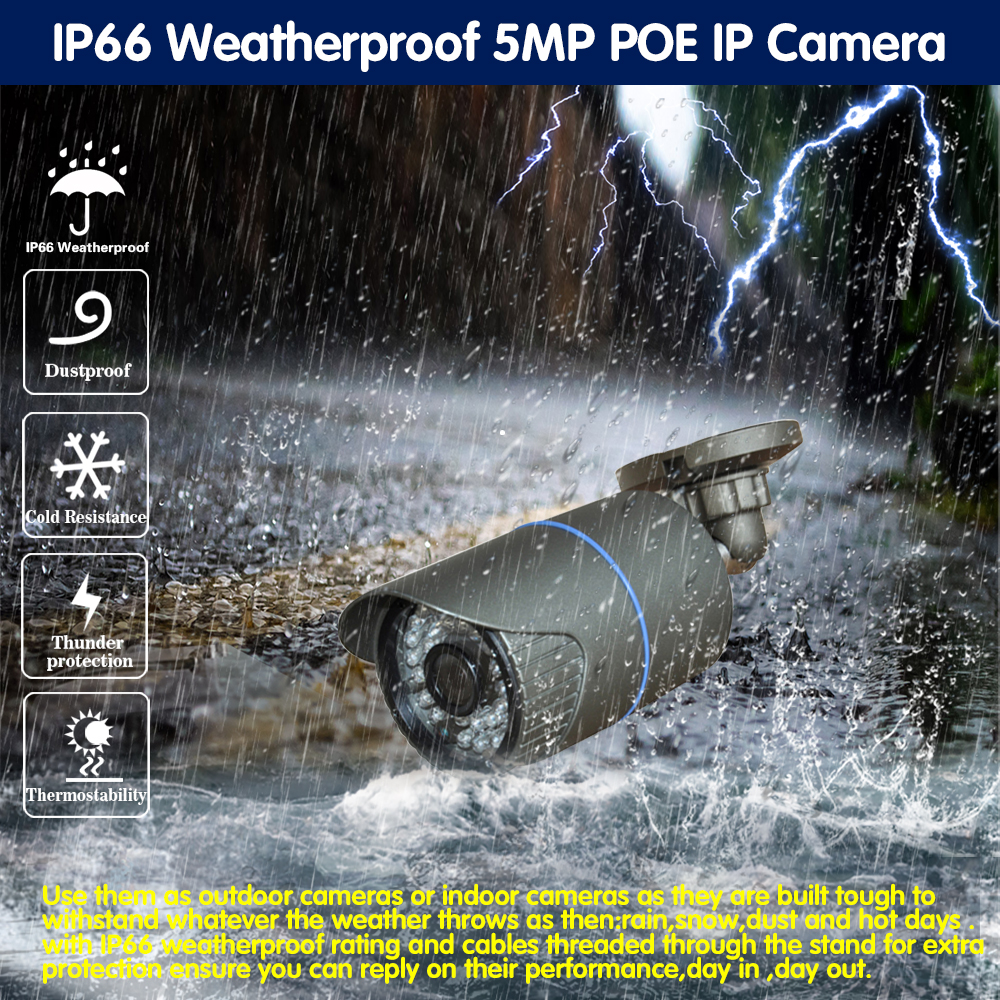 4CH POE NVR Kit HD Gesicht Erkennung CCTV Kamera System 5MP Im Freien Wasserdichte Ip-kamera POE Home Security Video Überwachung set