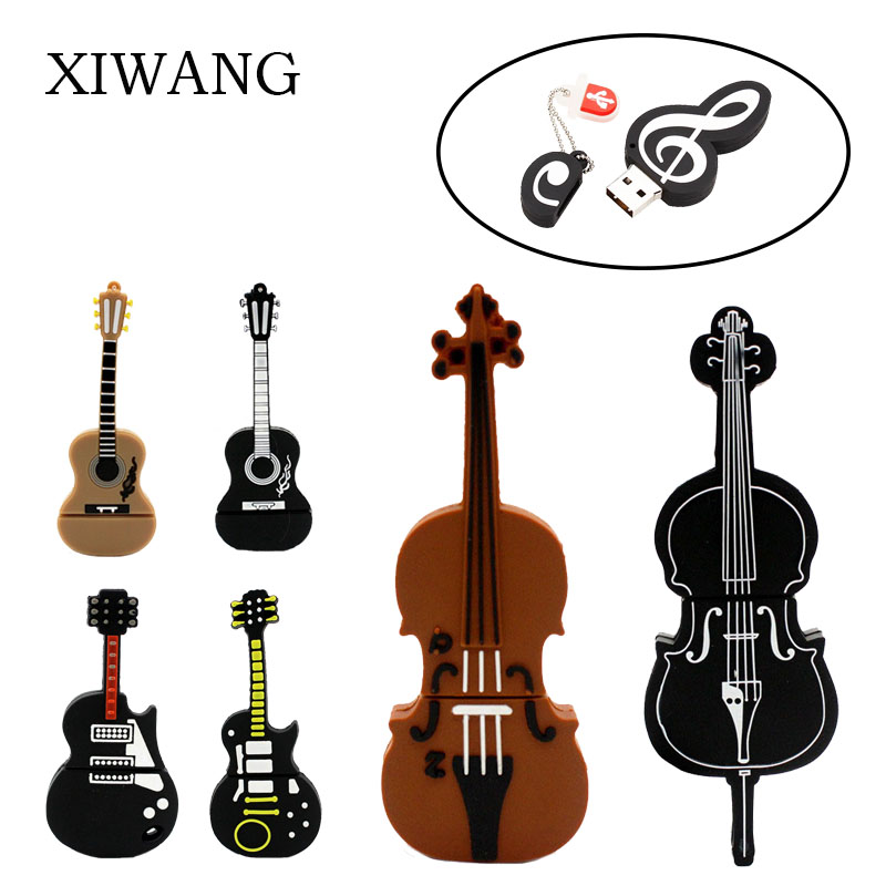 Instruments Type Usb Flash Drive 4GB 8GB 16GB Pendrive 32GB 64GB Violin Piano Guitar Pen Drive Large Capacity Free Shipping
