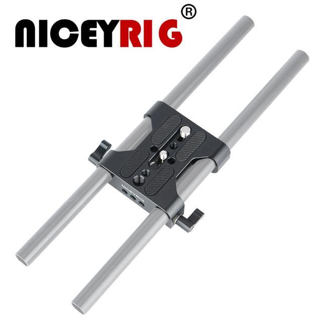 NICEYRIG DSLR מצלמה בסיס צלחת כתף Rig מצלמה כלוב צלחת 15mm רוד קלאמפ DSLR מצלמה DIY וידאו כתף Rig תמונה סטודיו