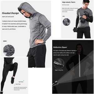 Image 5 - Men Sportswear Compression Sport Suits Breathable Gym Clothes Man Sports Joggers Training Gym Fitness Tracksuit Running Sets 3XL