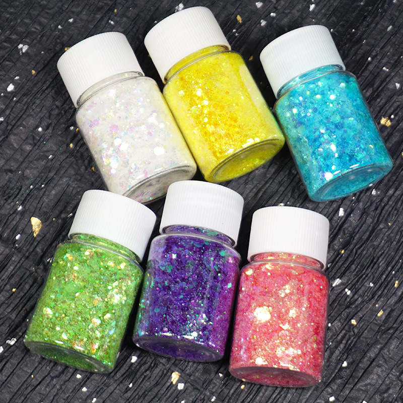 Colorful Hexagon Glitter Mix In Christmas Embellishment For Resin Crafts Festive Jewelry Tools Uv Resin Pigment Resin Tools