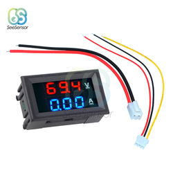DC 100V 10A 50A 100A Digital Voltmeter Ammeter Dual LED Display Panel Volt Amp Voltage Current Meter Tester Detector