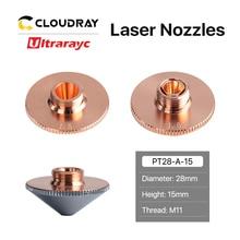 Ultrarayc Cutting Head Laser Nozzle Single Double Chrome-plated Layers D28 Caliber 0.8-6.0mm for Precitec WSX Fiber Cutting Head