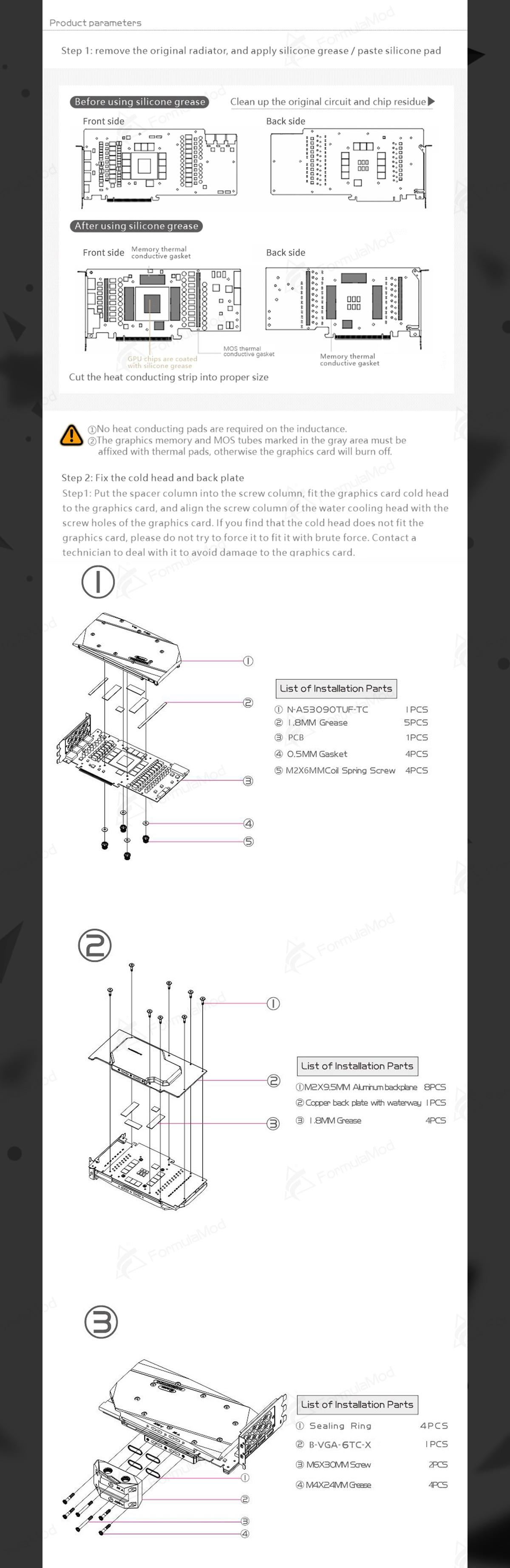 Bykski GPU Block With Active Waterway Backplane Cooler For ASUS TUF RTX 3090 3080 Gaming , N-AS3090TUF-TC