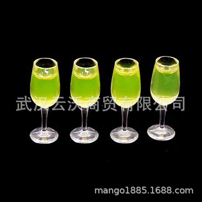 1: 12 Dollhouse Mini Model Restaurant Scene Candy Toy Fruit Juice Wine Glass Champagne Cup 4 PCs A Set