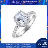 R & J 925 Solide Silber Ringe Für Frauen Hochzeit Schmuck Bijoux AAAAA zirkonia vintage Zubehör Engagement Bague Bijouterie