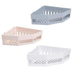3 szt. Narożna półka łazienkowa półki półka ścienna uchwyt kuchenny do przechowywania organizator uchwyt ścienny półka łazienkowa półki