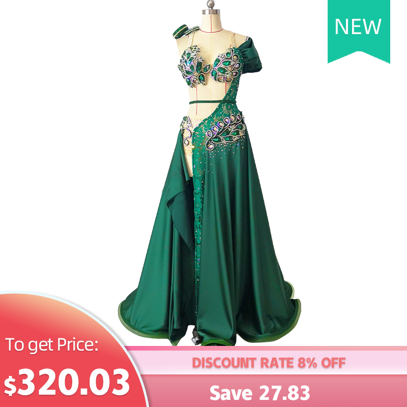 High-end Custom New Belly Dance Costume Women High-end Custom One-piece Big Swing Skirt Suit Oriental Dance Costumes