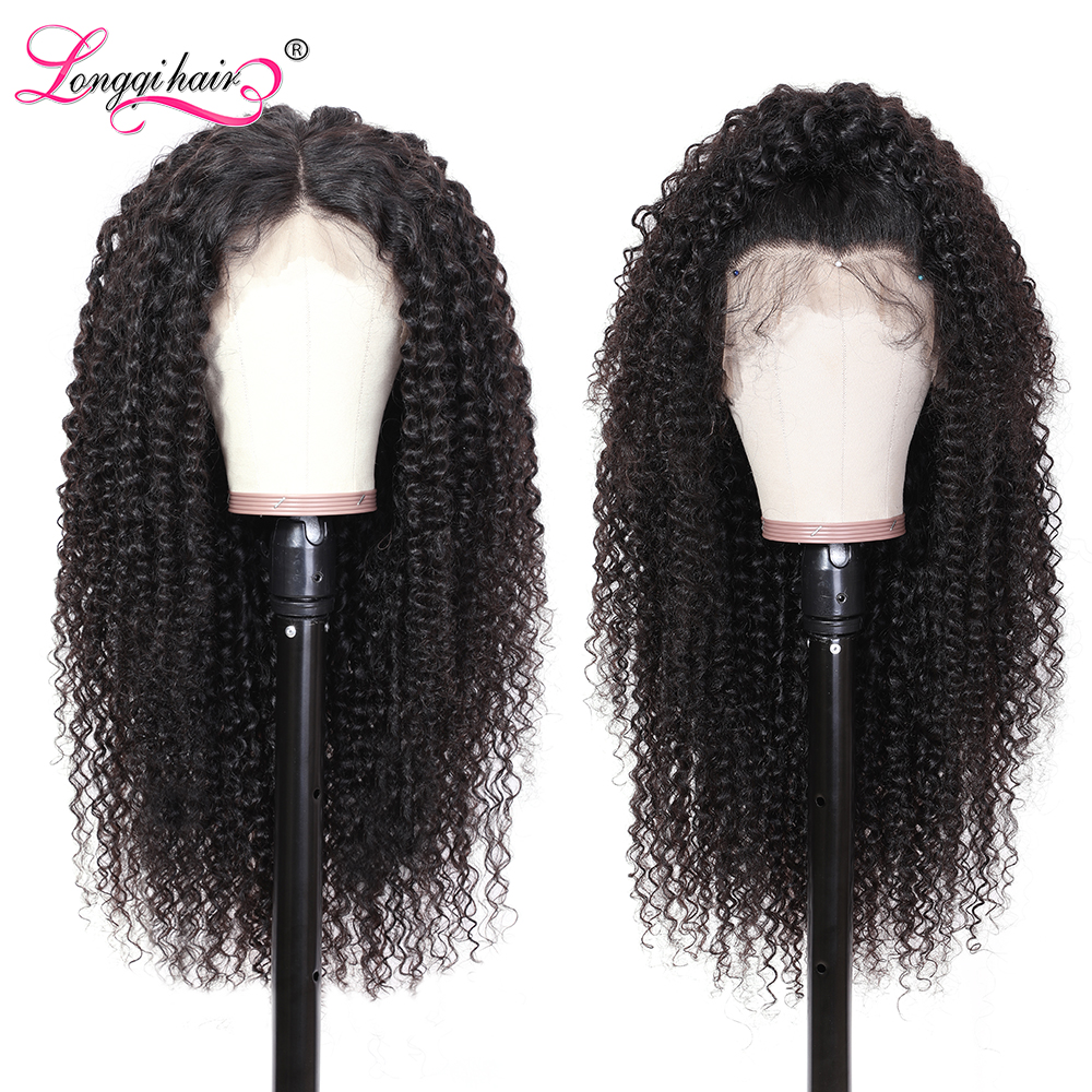 Hec977988cf60414399e8b9645f7c214bv Longqi Hair 13X4 13x6 Lace Front Human Hair Wigs Remy Brazilian Curly Human Hair Wigs Frontal Wig for Women 10 - 24 Inch