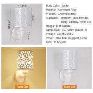 Image 3 - Lámparas de pared para interior y dormitorio, apliques de pared de estilo Simple, lámpara de cama, Luminaria creativa para escalera, sala de estar