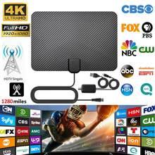 4K цифровое HDTV антенна для помещений ультратонкая усиленная антенна диапазон 1280 миль супер мягкий для жизни местные каналы трансляции