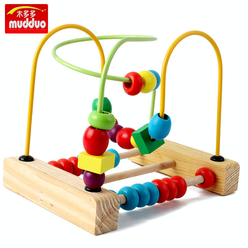 Wood Educational Abacus Calculation Bead-stringing Toy Children Fun Beaded Bracelet Early Education Wooden Parent And Child Inte