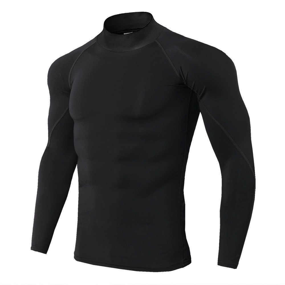 남성 터틀넥 긴 소매 티셔츠 열 속옷 가을 567890kg 겨울 남성 의류 기본 터틀넥 셔츠 슬림 # Gls234X