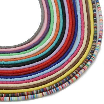 Darmowa dostawa 400 sztuk 3x1mm otwór 1mm miękka glina płatki koraliki gliniane luźne koraliki na komponenty do wyrobu biżuterii naszyjnik bransoletka Earrin tanie i dobre opinie CN (pochodzenie) NONE Silikon Nieregularne Moda 4 6mm