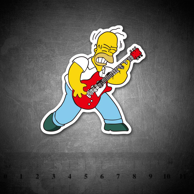 Cartoon Simpson Rock Funny Graffiti Stickers For Laptop Suitcase Luggage Fridge Skateboard Car Vinyl Decals DIY Sticker