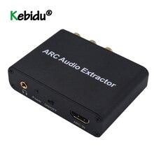 HDMI ARC Audio Extractor Audio Adapter 3.5mm Stereo Fiber Coax Converter Voor Versterker Soundbar Speaker HDTV