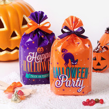 50Pcs Halloween Candy Bag Creative Durable Halloween Exquisite Candy Handbag for Children Adorable Candy Pouch without Ribbon