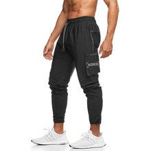 Wiosenne męskie spodnie biegaczy spodnie 2121 nowe męskie spodnie Autum męskie ubrania Jogging solidna duża boczna kieszeń spodnie dresowe czarne