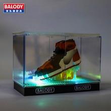 20 различных видов спортивной баскетбольной обуви air jordan brick aj светильник дисплей коробка assemable модель Алмазный строительный блок коллекция игрушек