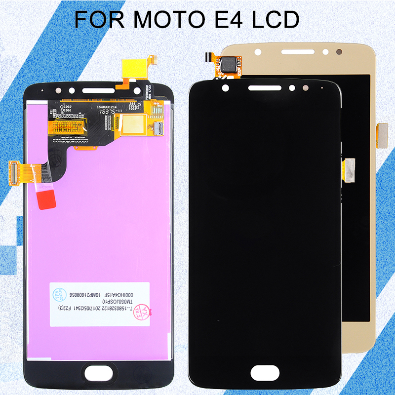 Catteny 5.0inch <font><b>XT1763</b></font> LCD Screen For MotoRola <font><b>Moto</b></font> <font><b>E4</b></font> LCD E 4th Gen XT1766 <font><b>Display</b></font> With Touch Screen Digitizer Assembly+tools image
