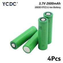 Batterie de remplacement Li-ion 8/10 V 3.7 mAh VTC5 2600, 1/2/4/6/18650 pièces, pour E-cigarette, Vape, lampe de poche, batterie d'alimentation, Radio, manette de jeu
