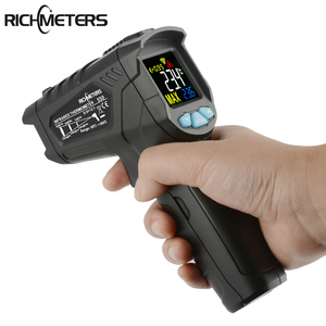 Image 5 - RICHMETERS 550PRO דיגיטלי מדחום אינפרא אדום לייזר termometro infrarojo Pyrometer גבוהה/נמוך אזעקה