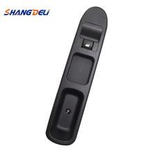 Para peugeot 307 interruptor da janela de energia regulador botão interruptor controle com painel frente lado direito