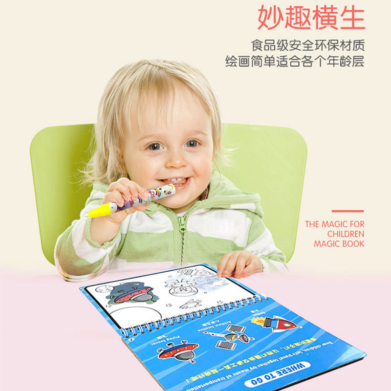 Montessori Painting Drawing Board For Kids Toys Birthday Gift Coloring Book Doodle & Magic Pen Magic Water Drawing Book