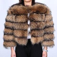 Mmk inverno mulheres jaqueta de pele de raposa casaco de pele real natural casacos de pele de guaxinim jaqueta de couro feminino jaquetas novo produto 2020