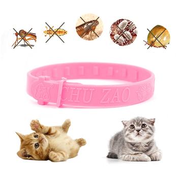 5 sztuk regulowana obroża dla zwierząt przeciw pchłom kleszcze komary różowy odkryty obroża dla kota psa Pet Protect odeprzeć gumowy naszyjnik wysokiej jakości tanie i dobre opinie Silica gel Other Adjustable Dog Cat Collar Pet Supplies Beautiful and solid Flexibility