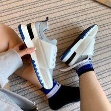 Estrela * sapatos esportivos de lazer ao ar livre à moda, cores misturadas botas femininas respiráveis, sapatos de corrida de viagem de primavera e outono