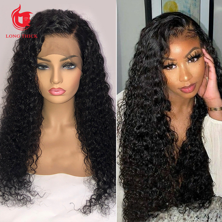 Loose Deep Wave Frontal Wig Bob Wig Lace Front  Wigs  30 Inch  Water Wave Lace Front Wig 1