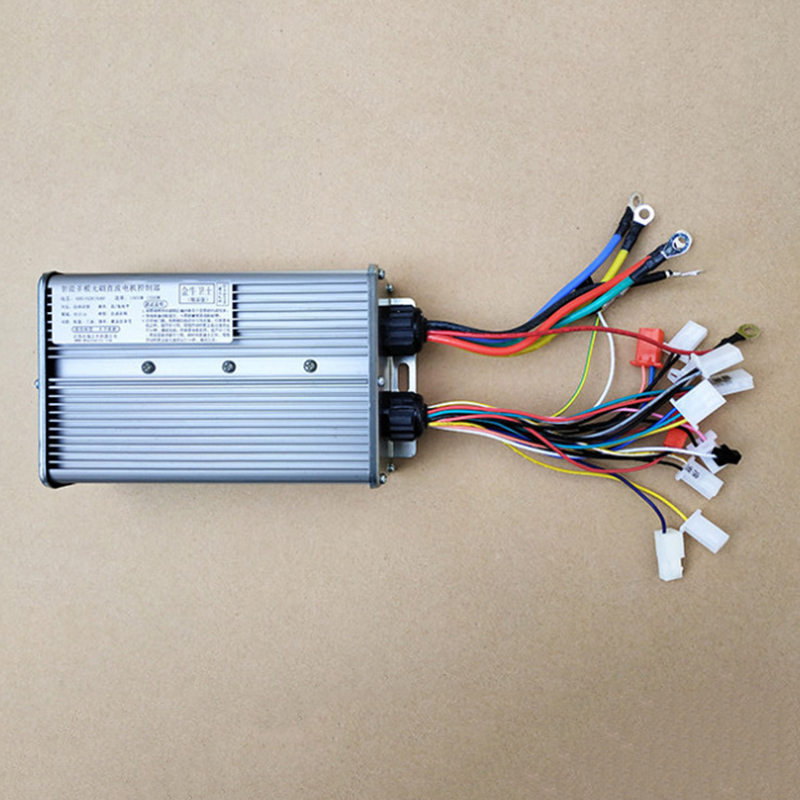 48V <font><b>60V</b></font> <font><b>1000W</b></font>-1500W 18 Tubes BLDCM <font><b>Controller</b></font> Brushless DC Motor <font><b>Controller</b></font> With Wiring Manual For 2 Wheels Electric Bike image