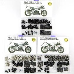 Dla Aprilia RSV4 2010 2011 2012 2013 2014 motocykl Cowling kompletne pełne owiewki zestaw śrub klipy śruby karoserii nakrętki stalowe