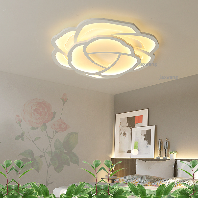 Us 94 4 20 Off Nordic Led Round Rose Ceiling Lights Modern Bedroom Lighting Living Room Light Fixtures Hanging Lamps On