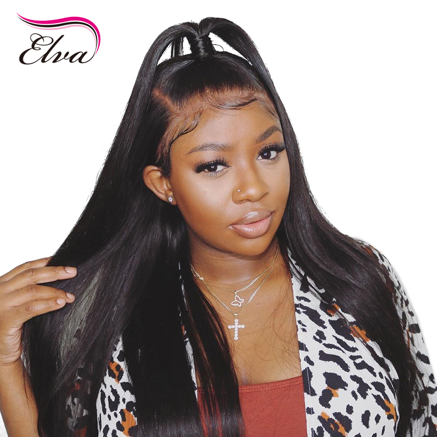 Elva Hair 360 Lace Frontal Human Hair Wigs With Baby Hair Pre Plucked Natrual Hairline Brazilian Remy Hair For Black Women