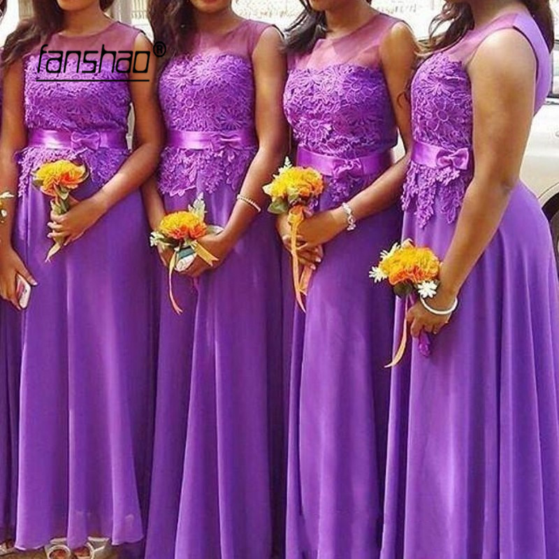 Vintage Bridesmaid Dresses Chiffon Tank Applique Flower Floor Length Special Occasion Wedding Guest Prom Party Gowns