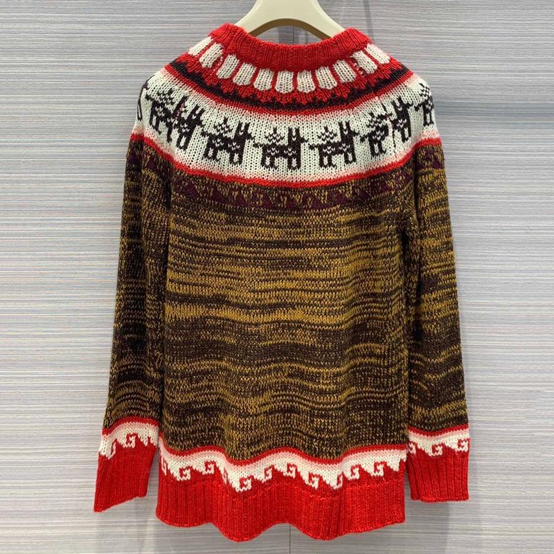 Dicken Pullover Frauen Winter Weihnachten Pullover Langarm Casual Pullover Strickwaren - 3