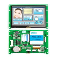 Serial LCD display module with controller and touch screen