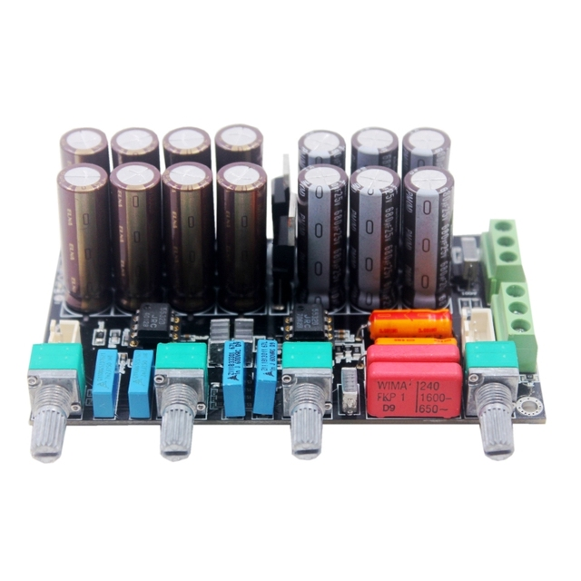 HIFI Stereo Preamp Preamplifier Tone Board Audio OPAMP Treble Bass Volume Tone Controller Amplifier Board