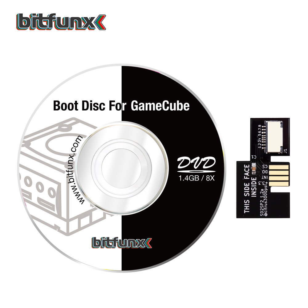 Bitfunx SD2SP2 SD TF Card Adapter for Nintendo Gamecube and Swiss Boot Disc Mini DVD Load Games